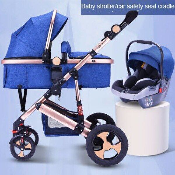 Baby Stroller 3 In 1 With Car Seat High Landscape Baby Stroller Newborn Car Seat Cradle Travel System Stroller And Car Seat Singapore