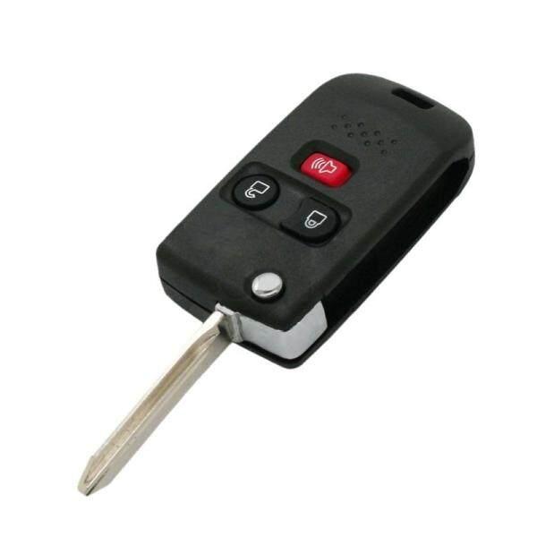 Flip Key Shell + Key Blank Refit Remote Key Fob 3 Button Fit for Ford Mazda Mercury