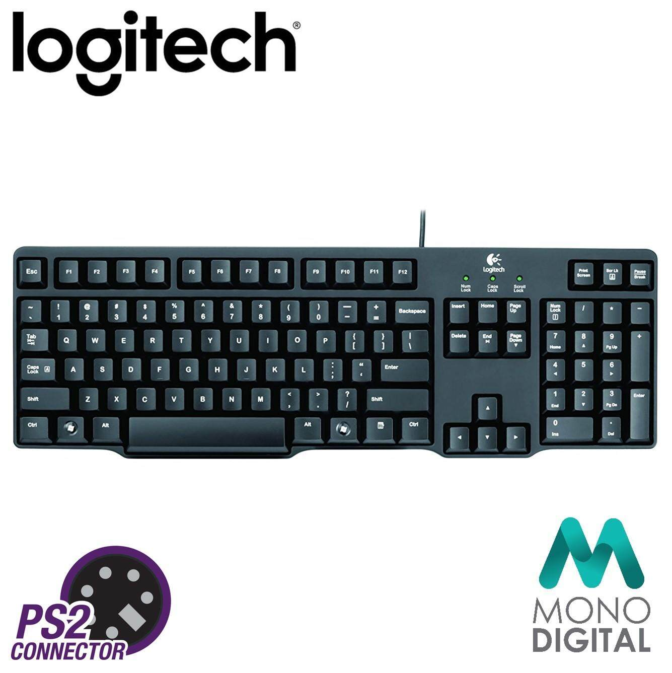 Logitech Classic Pc Ps/2 Keyboard K100 (920-002145) (logitech Malaysia) By Mono Digital.