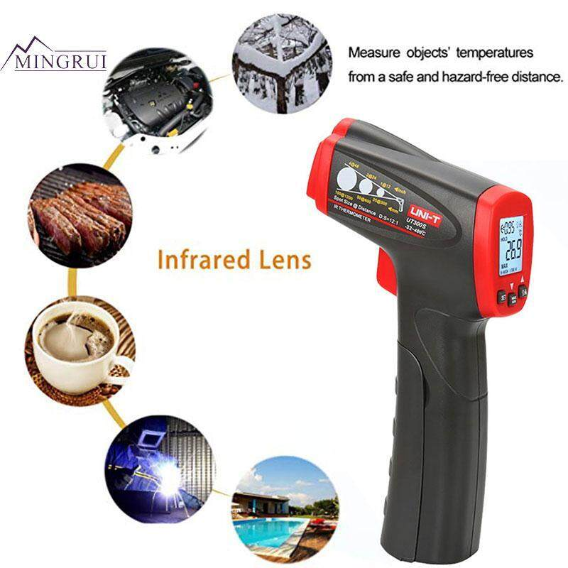 Mingrui UNI-T Black Red UT300S ABS Industrial Thermometer Temperature Measurement Tool Infrared Thermometer with LCD Top Grade Safe Contactless Body Temperature Practical Quick Convenient