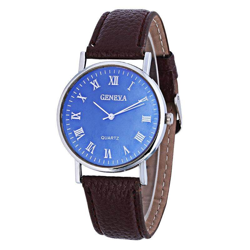 Contemplative Retro Women Men Casual Roman Numeral Dial Denim Fabric Analog Quartz Wrist Watch Watches