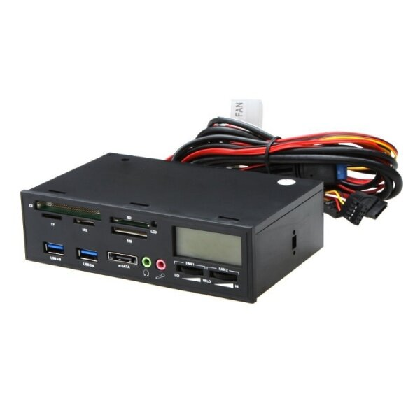 Giá 5.25  USB 3.0 e-SATA All-in-1 PC Media Dashboard Multi-function Front Panel Card Reader I/O Ports