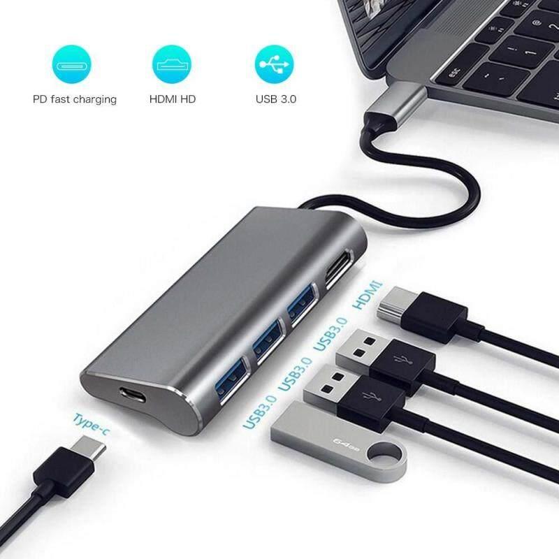 Bảng giá KOBWA Loại-C HUB HDMI-5 trong 1 USB C Adapter với 4 K HDMI, 3 CỔNG USB 3.0, USB C/F Cổng Sạc Tương Thích với MacBook Air 2018, MacBook Pro, XPS và Nhiều Hơn Nữa Phong Vũ