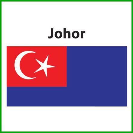 Johor Flag 3x6ft, Bendera Johor 3x6ft, Polymesh