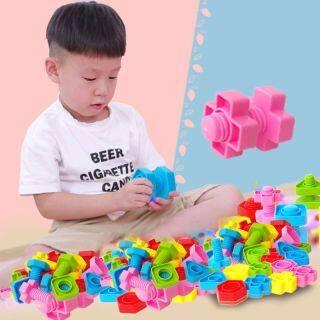 40 Khối Xây Dựng Vít Montessori, Khối Chèn Nhựa Đồ Chơi Hình Hạt Đồ Chơi Giáo Dục Đồ Chơi Trẻ Em Bé Gái Toddler Trẻ Sơ Sinh Đồ Chơi thumbnail
