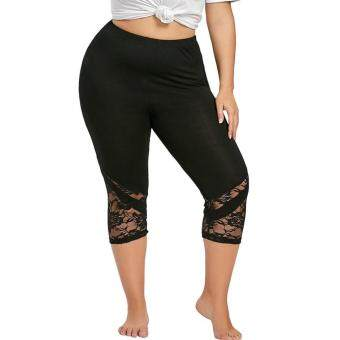 3ce6a291a1b1 การส่งเสริม Women Lace Patchwork Skinny Leggings Polyester High Elastic  Waist Mid- Calf Women's Summer Plus Size Leggings ซื้อที่ไหน - มีเพียง  ฿220.00