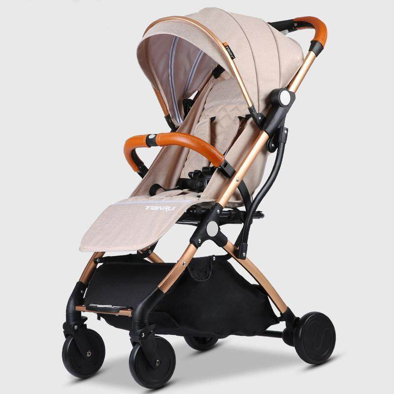 Baby stroller High landscape stroller Can sit and lay ultra light portable folding stroller baby seat on the plane Singapore