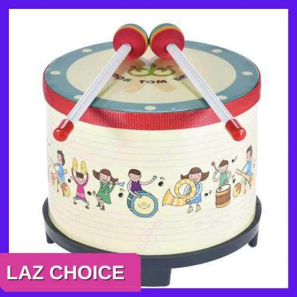 LAZ CHOICE 8 Inch Wooden Floor Drum Gathering Club Carnival Percussion Instrument with 2 Mallets for Kids Children Malaysia