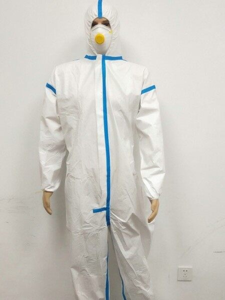 Disposable Jumpsuit / Protective Coverall, Microporous 63gsm PP+PE non-woven, with hood and boot (1pc/pack)