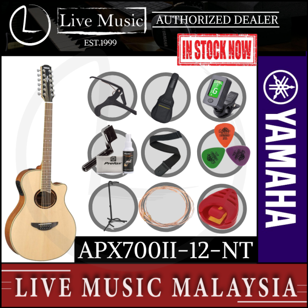 Yamaha APX700II-12 41 Solid Spruce Top 12-Strings Acoustic Electric Guitar - Natural (APX700II/APX700II-12-NT) Malaysia