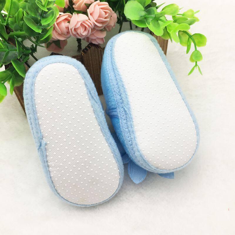 Giá bán Mùa Đông Ấm Cho Bé Giày Đế Mềm Chống Trơn Trượt Nơ Giày Tập Đi Cho Bé Đầu Tiên Xe Tập Đi