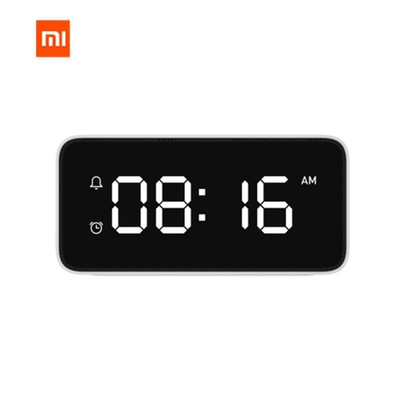 Original Xiaomi Xiaoai Smart Alarm Clock Voice Broadcast Clock ABS Table Dersktop Clocks AutomaticTime Calibration Work With Mi Home App