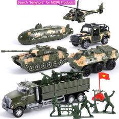 BAIY, Mô Phỏng 6 Chiếc Mô Hình Xe Bọc Thép Cho Xe Tăng Quân Sự, Với Đồ Chơi Xe Hợp Kim Cho Bé Trai