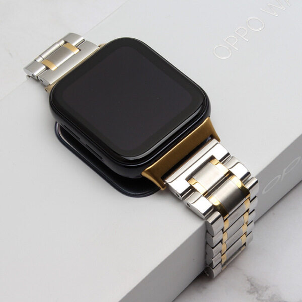Luxury Stainless Steel strap For oppo watch 46mm watchband Bracelet band for OPPO Watch 41mm 46mm Strap Smart watch Accessories Malaysia