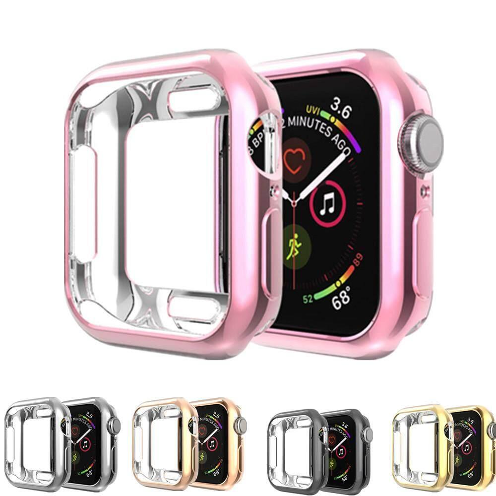 Giá Bao da dành cho Apple Watch 5/4/3/2/1 Ốp Lưng Dây Đồng Hồ 44mm 40mm 42mm/38mm IWatch Ốp Lưng TPU Silicone Mềm Mại Bảo Vệ Ốp Lưng