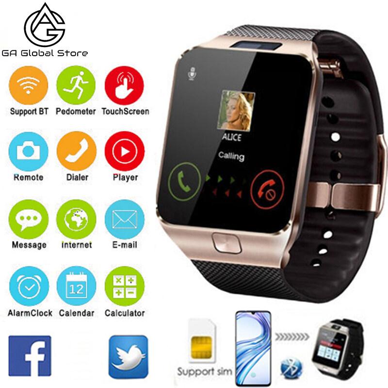 Đồng Hồ Thông Minh Bluetooth DZ09 Cho Nam Nữ, Đồng Hồ Thông Minh Màn Hình Cảm Ứng Kỹ Thuật Số Có Camera Điện Thoại Di Động Thẻ Sim Cho Android/IOS