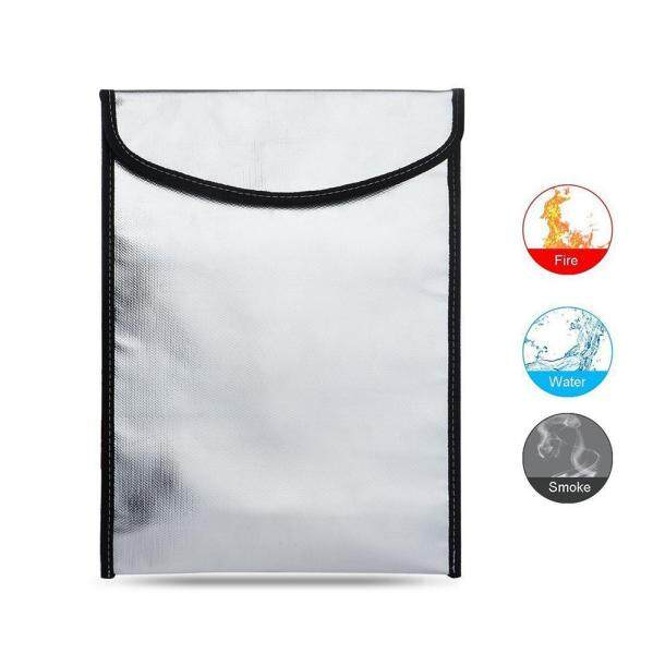 Bumblebaa Portable Fireproof Waterproof Pouch Safe Bag for Document Cash Money Passport Bank File and Valuables(34*26cm)