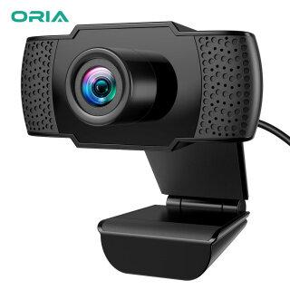 ORIA Webcam Full HD 1080P Webcam USB Máy Vi Tính USB Có Micrô Cắm Và Phát USB Cho Máy Tính Máy Tính Xách Tay Webcam Lớp Họp Video thumbnail