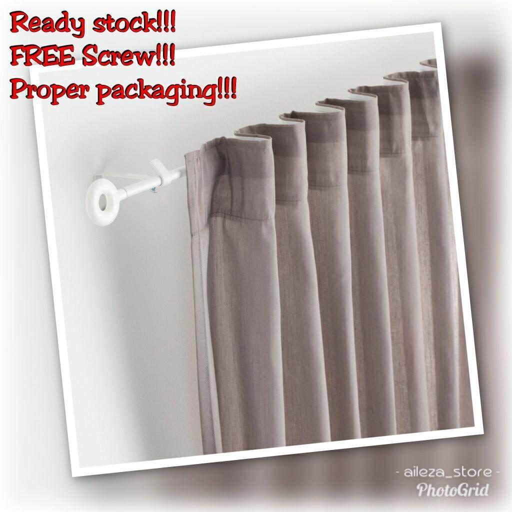 IKEA IRJA Curtain Rod Set, White / Set Penyangkut Langsir Putih 140 cm