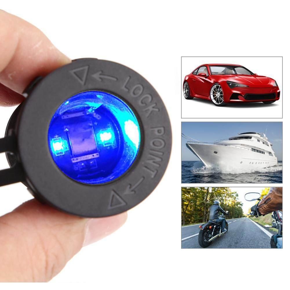 12 V Cigare Tte Colokan Listrik Stopkontak Dengan Biru Lampu Led Terfor Mobil Sepeda Motor Perahu By Car-Mall.