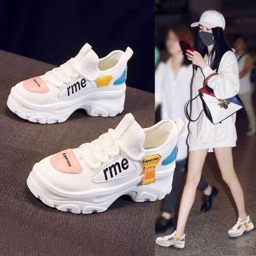 Offer tại Lazada cho Vestline Phong Cách Hàn Quốc Màu Trắng Giày Dẹt Trắng Cho Nữ Thoáng Khí Kasut Perempuan Oldpapa Giày Sneakers Nữ Chống Trơn Trượt Giầy Thể Thao Nữ 2019 Mới