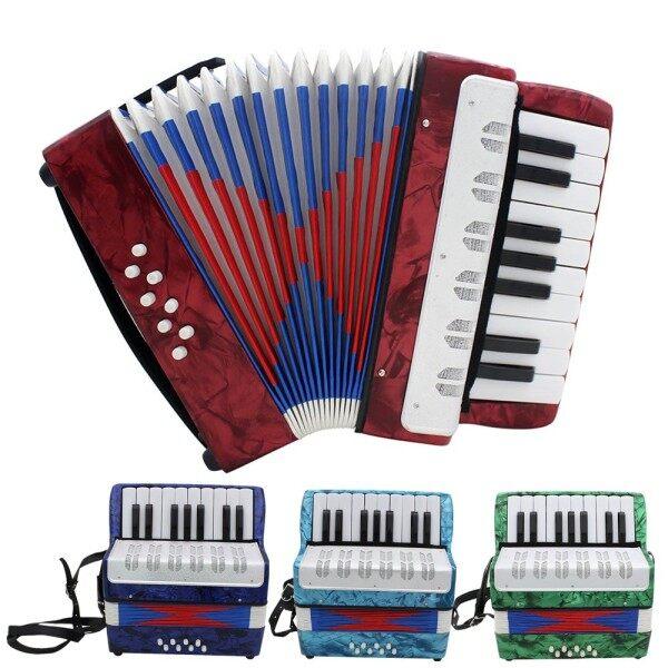 Bộ Học Nhạc Cụ Chuyên Nghiệp 17 Phím Accordion Bàn Phím Nhạc Cụ