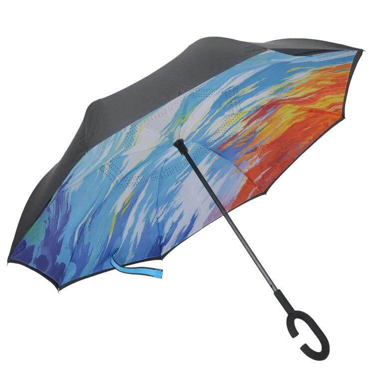 3rd Gen Premium Quality Inverted Reverse Double Layer Umbrella With C Hook