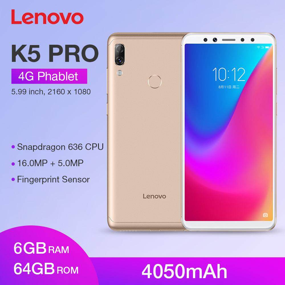 Original Global Version Lenovo K5 Pro 4G Phablet 5 99 inch Android 8 1 /  ZUI Snapdragon 636 Octa Core 1 8GHz 6GB RAM 64GB ROM 16 0MP + 5 0MP Front