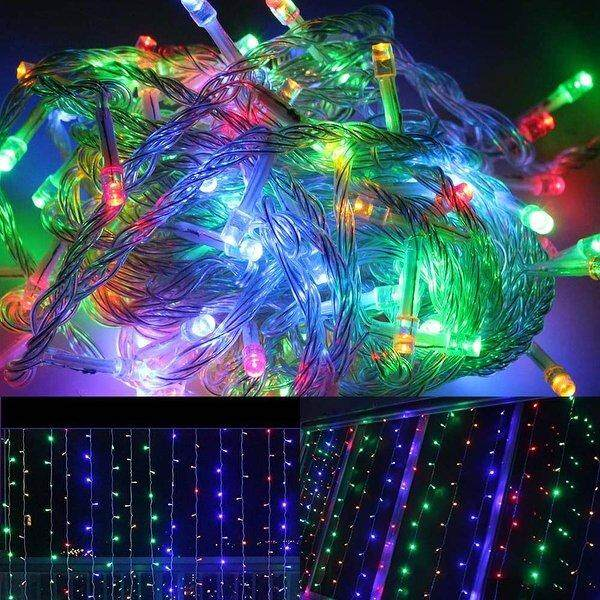 10 Meters 100 Led Multi Fairy String Lights ,power Point - 8 Modes (starzdeals.my) By Starz Deals Trading.