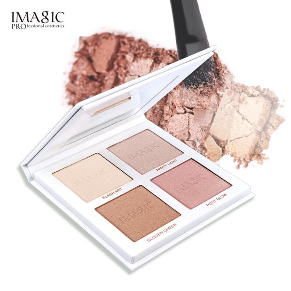 IMAGIC Highlighter Powder Palette Ánh Sáng Lung Linh Khuôn Mặt Đường Cong Làm Nổi Bật Khuôn Mặt Bronzer Trang Điểm 4 Màu Highlighter giá rẻ