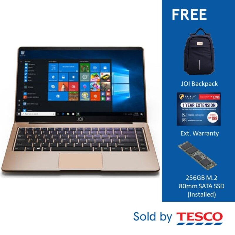 JOI Book 150 (AD-L150G) Celeron N4100/ 4GB/ 32GB (Free 256GB SSD + Backpack + Ext. Warranty) Gold Malaysia