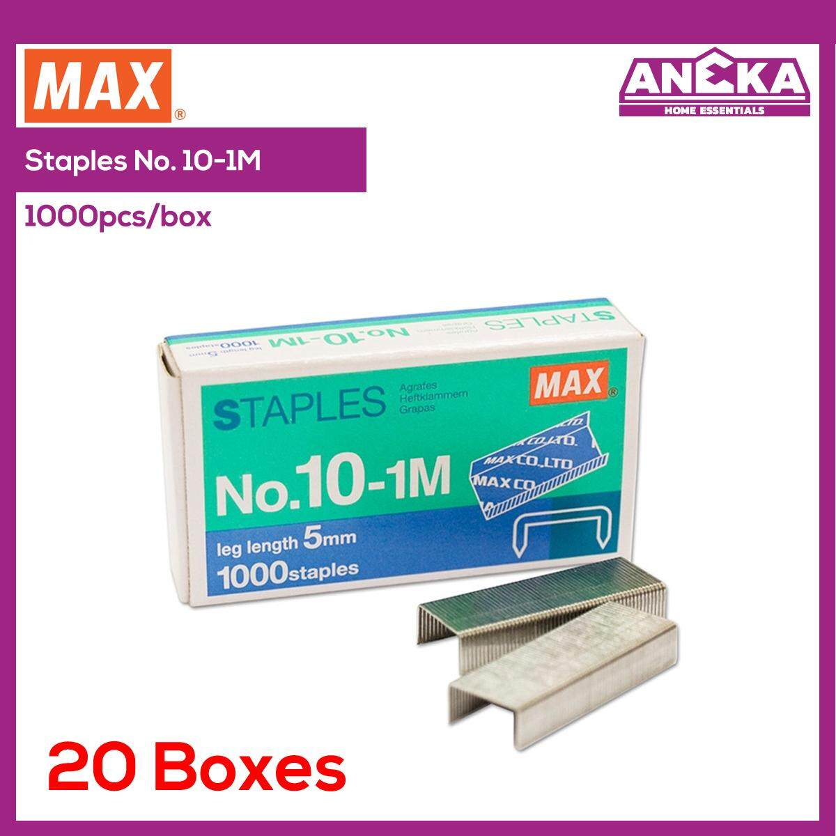 Max Staples Bullet No.10-1m (20 Boxes) Ms90126 By Aneka Home Essentials.