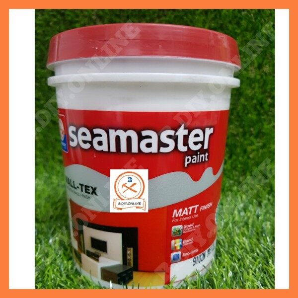 100% Original -White Colour( 1 liter )Seamaster Wall-Tex Emulsion Paint 7700-For Interior Wall Surface