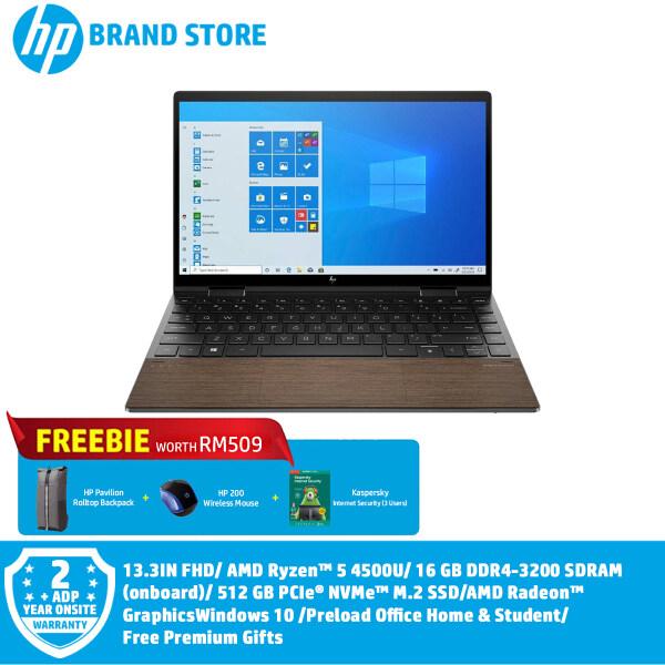 HP ENVY x360 13-AY0122AU Laptop - (2J9Z6PA#UUF) - (13.3IN FHD/ Ryzen 5-4500U/ 16GB DDR4/ 512GB SSD/ Win10//Preload H&S) + Free Premium Gifts Malaysia
