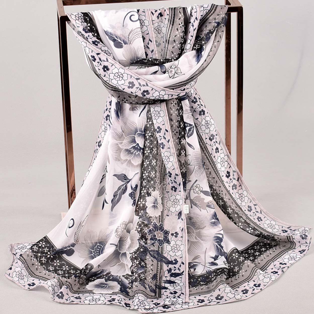 yeah sku Women Printed Soft Chiffon Shawl Wrap Wraps Scarf Scarves