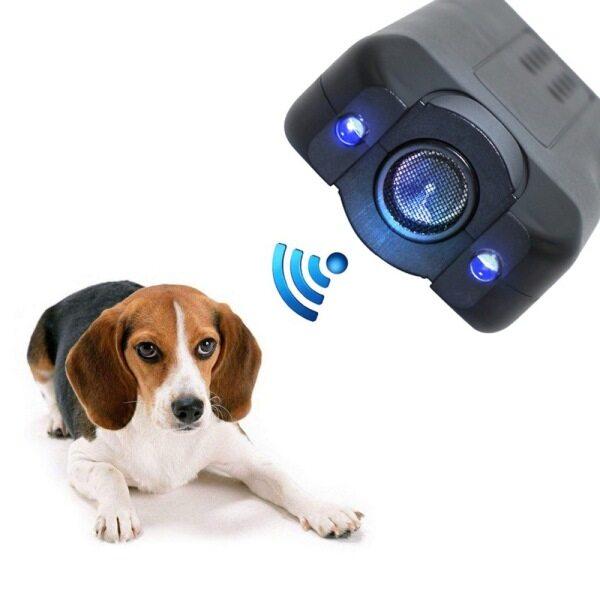 COD chó con di động barking Stopper cầm tay chó Repellent LED Light siêu âm chó răn đe huấn luyện chó cưng
