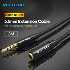 Vention dây kết nối âm thanh 3.5mm Aux dây nối dài tai nghe Male to Female 3.5mm Aux Jack Cable for iPhone Computer Headphone MP3 MP4 Player Extender Cord 3.5 mm Aux Earphone Extension Cable