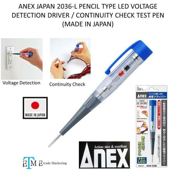 Anex Japan 2036-L Pencil Type LED Voltage Detection Driver / Continuity Check Test Pen (Made In Japan)