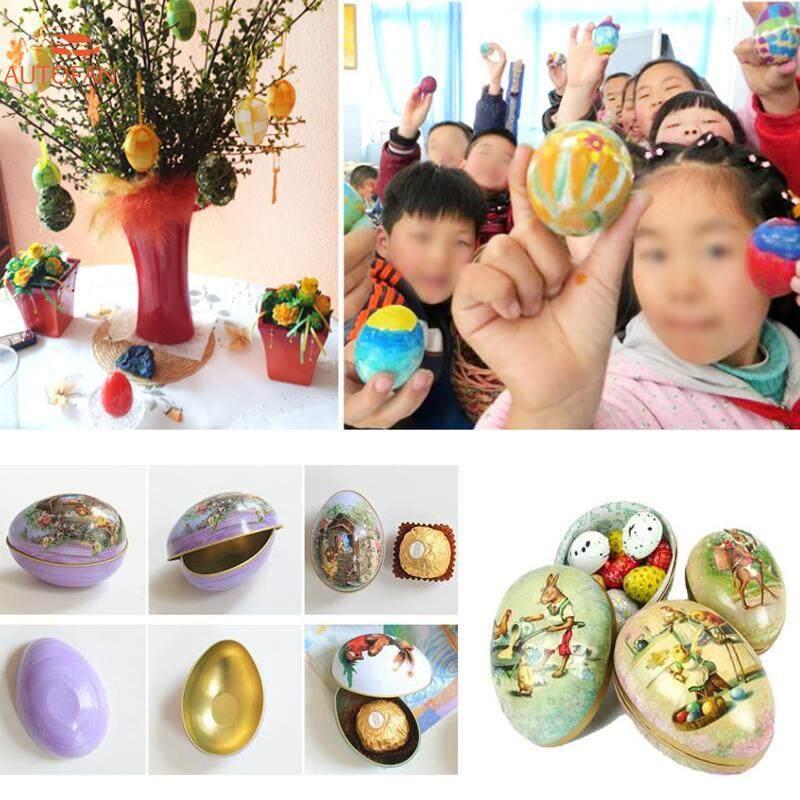 Telur Paskah Berbentuk Kulit Telur Terlukis Trinket Tin Kotak Besi Pernikahan Hadiah By Autofan.