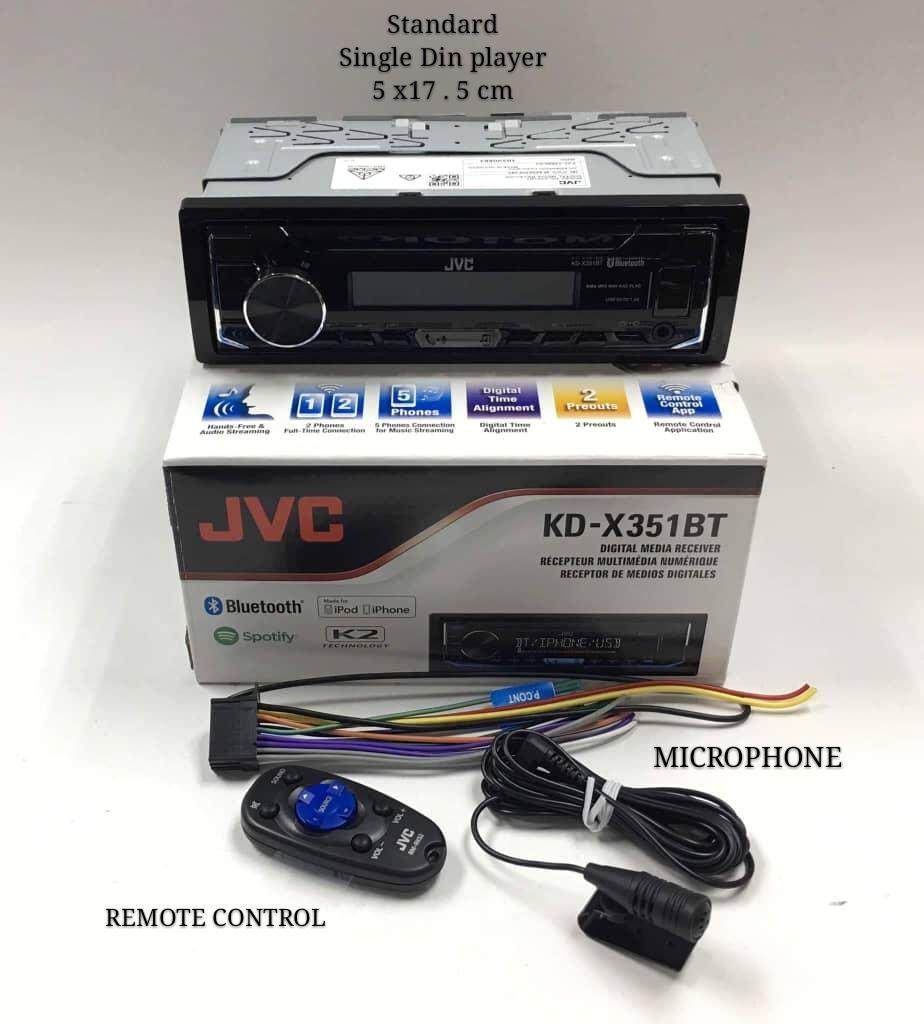 Car Stereo Receivers Buy At Best Price In Jvc Wiring Harness Power Plug Kd X351bt Digital Media Receiver With Bluetooth And Front Usb Aux Input