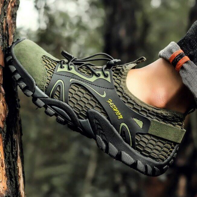 Giày Thường Ngày Thoáng Khí SHOLL, Ngoài Trời Giày Đi Bộ Đường Dài, Người Đàn Ông Của Giày Đi Bộ Đường Dài Câu Cá Giày Bãi Biển Sông Lội Sneakers giá rẻ