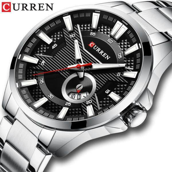 CURREN Mens Fashion Luxury Top Brand Watches Men Casual Stainless Steel Waterproof Quartz Watch Auto Date Watch For Men Malaysia