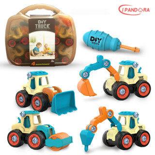 Lắp ráp đồ chơi giáo dục Cấu trúc có thể tháo rời phương tiện Lắp ráp đai ốc DIY Máy xúc mô phỏng, v.v. Có thể trượt Đồ chơi mô hình lắp ráp thumbnail