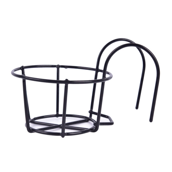 Blowing Outdoor Hanging Plant Iron Racks Balcony Round Flower Pot Rack Railing Fence