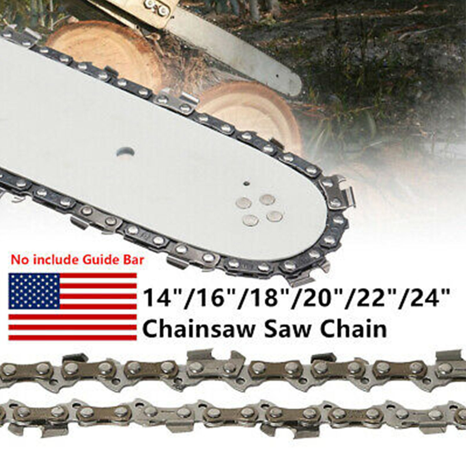 """20/"""" 3//8/""""LP .050 Generic Chainsaw 72DL Gauge Saw Chain Blade Drive Link Strong"""