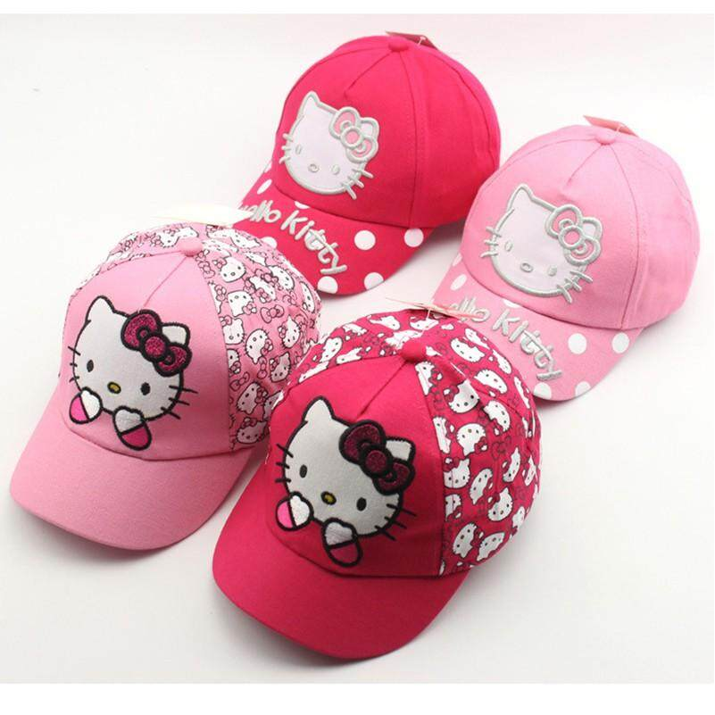 Children Cartoon KT Cat Baseball Sunscreen Visor Cap BW