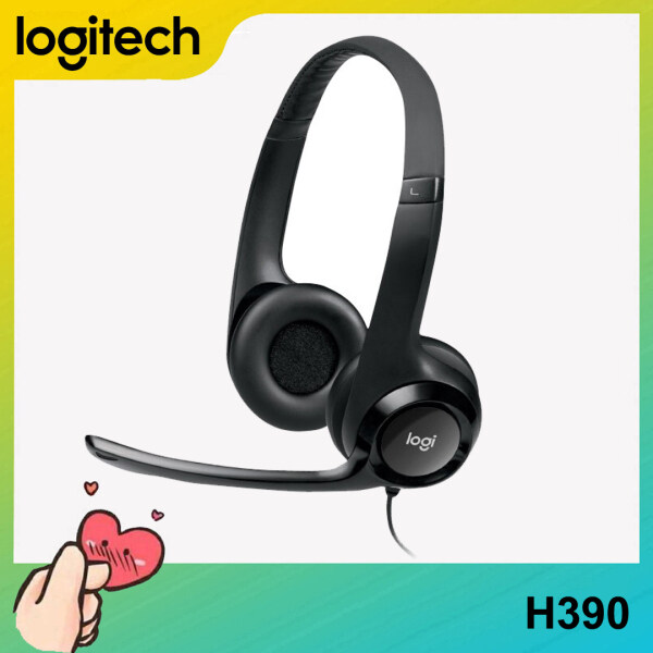 [Ready to Ship] Original Logitech H390 HIFI Stereo USB Wired Headset Headphone With Rotatable Noise Reduction Microphone For PC Laptop Computer Singapore