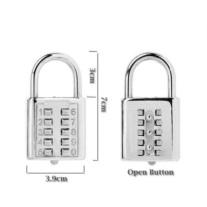 Anti-theft Button Combination Padlock Digit Push Password Lock