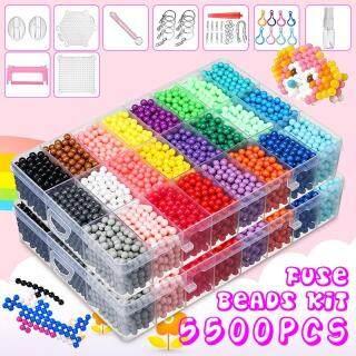 Aqua Beads 5500 Hạt Cầu Chì Tự Làm Miếng Dính Nước + 3 Hộp Đựng Mẫu Stater Quà Tặng Thủ Công Nghệ Thuật thumbnail