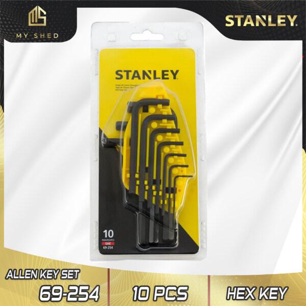 STANLEY 69-254 10 Pcs Hex Key Set 1/16-3/8 Allen Key ( 69254 )
